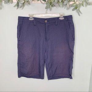 Oakley Flatfront Navy Mini Houndstooth Shorts 36